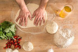 Gesunde, selbstgemachte Pizzaoptionen