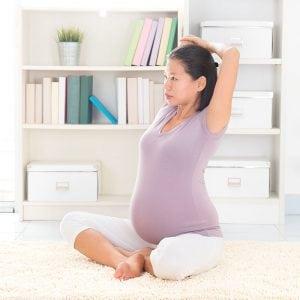 Während der Schwangerschaft eine gute Körperhaltung bewahren